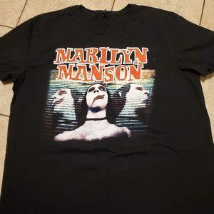 🎸Marilyn Manson tee vintage reprint sz XXL